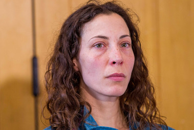 Czech tourist Pavlina Pizova spoke of her harrowing ordeal during her press conference at Queenstown Police station. Photo / James Allan