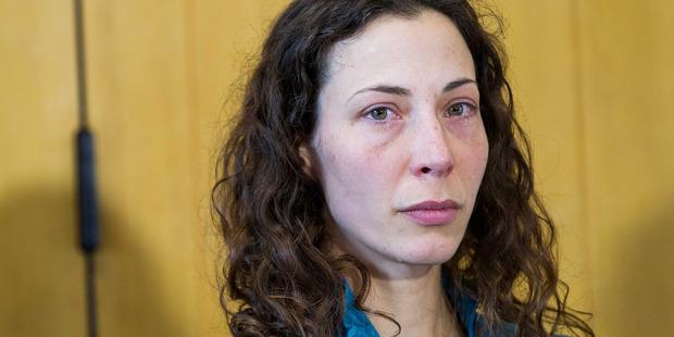 Pavlina Pizova tears up at the press conference. Photo / James Allan