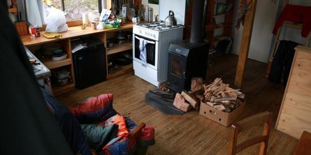 The interior of the warden's hut at Lake Mackenzie where Czech woman Pavlina Pizova stayed for almost a month. Photo / Supplied