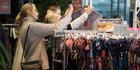 Fashion shoppers looking for a bargain. Photo / Brett Phibb