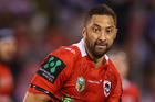Benji Marshall of the Dragons runs the ball during the round 12 NRL match between the St George Illawarra Dragons and the North Queensland Cowboys. Photo / AP.