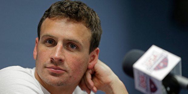 Lochte said he had lied in telling NBC that a gun had been cocked and pointed at his forehead. Photo / AP