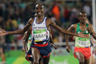 Britain's Mo Farah added the 5000m title to the 10,000m crown he won earlier in the Games. Photo / AP