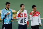 Men's tennis took the gold medal for the most right-swiped male sports. Photo / AP
