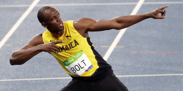 According to Jady Duarte, Usain Bolt pulled his famous pose for her. Photo / AP