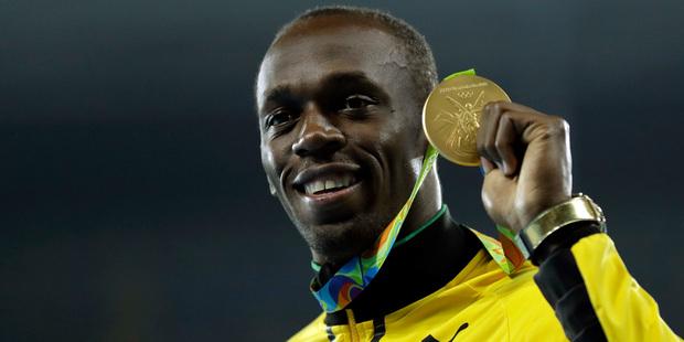Usain Bolt's triple triple is under threat. Photo / AP