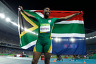 South Africa's Caster Semenya celebrates after winning the gold medal in the women's 800m. Photo / AP