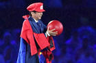 Japanese Prime Minister Shinzo Abe appears as the Nintendo game character Super Mario during the closing ceremony of the 2016 Summer Olympics in Rio. Photo / AP