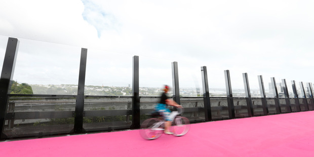 Nelson St cycleway in Auckland. Photo / Getty Images