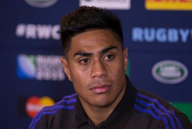 New Zealand All Blacks mid-field back Malakai Fekitoa, during a press conference. Photo / Brett Phibbs.