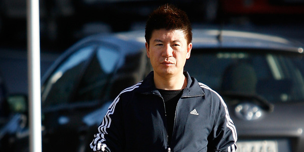 William Yan after visiting the Auckland Central police station in 2009. Photo / Greg Bowker