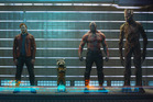 The Guardians Of The Galaxy: Gamora (Zoe Saldana), Peter Quill/Star-Lord (Chris Pratt), Rocket Raccoon (Bradley Cooper), Drax The Destroyer (Dave Bautista) and Groot (Vin Diesel). Photo / Supplied