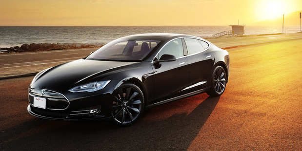 The Tesla Model S sedan is now the third-fastest car in the world. Photo / AP
