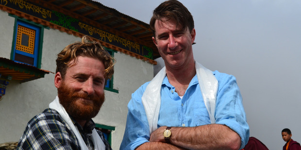 Dean O'Gorman as George Lowe and Andrew Munro as Edmund Hillary in new TV One series.