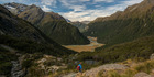 The view from the Routeburn Falls taking in the Greenstone and Routeburn tracks.  Photo / Supplied