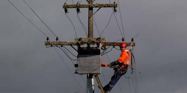 Power has been restored to most of Vector's network after fierce winds causes widespread outages. PHOTO / FILE