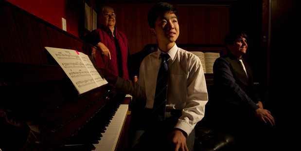 Top scholarship winning piano student Dong Guen Lee pictured here after last year's Institute of Registered Music Teacher's Annual Senior Music Scholarship competition.