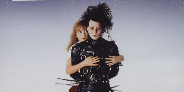Winona Ryder and Johnny Depp in Edward Scissorhands. Photo / Supplied