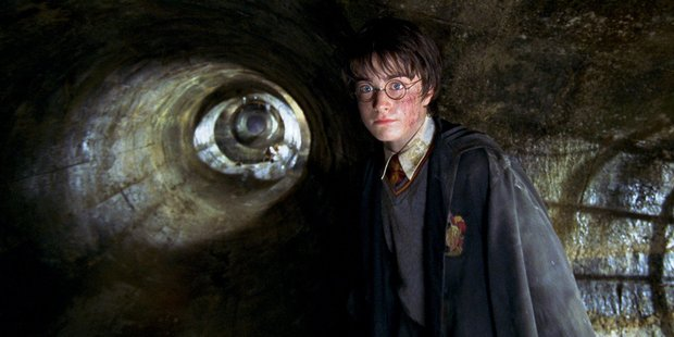 A scene from the movie Harry Potter and the Chamber of Secrets.