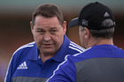 All Blacks coach Steve Hansen is expecting the Wallabies to throw everything at his side. Photo / Brett Phibbs