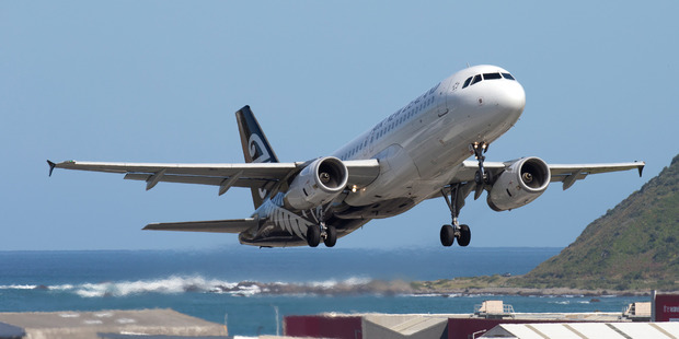 Air New Zealand fell 0.5 per cent to $2.22. Photo / Mark Mitchell