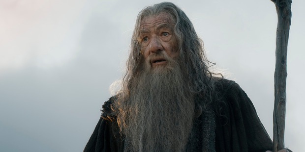 Sir Ian Mckellen as Gandalf in Lord Of The Rings.