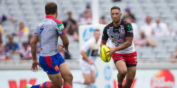 Benji Marshall, playing in last year's NRL Auckland Nines, is seriously considering retirement. Photo / NZ Herald