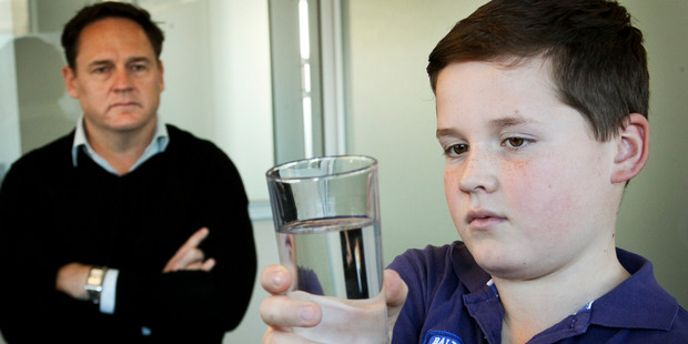 Water bug sufferers, Tobias Taylor and Oliver Taylor 11 of Hereworth School, Havelock North. Photo/NZME