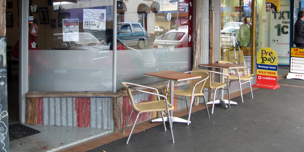 A chair was grabbed from a Kaikohe cafe and thrown at police. PHOTO/Mike Dinsdale