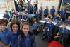 BACK AGAIN: Room 1 from Havelock North Primary saw 25 of its 30 children return to school yesterday. PHOTO/DUNCAN BROWN