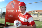William Gunson sports his cap for 50 appearances for Lindisfarne College 1st XV. Photo / Duncan Brown