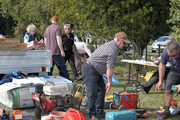 Builders and tradesmen were amongst those who recoverered their gear from a huge stash of stolen goods discoverered by police at Ngatarawa Rd. Photo Duncan Brown