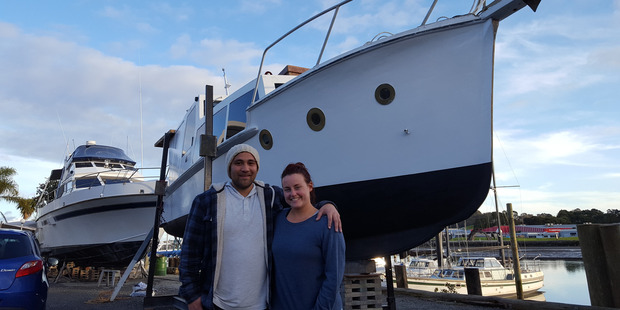 Reuben Mackey and  Jade Pumford had no DIY experience but received plenty of advice during the renovation project.