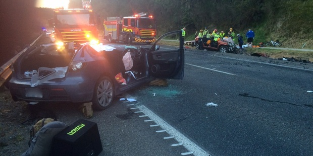 One person died and two people are in a critical condition after a crash on SH5. Photo/supplied
