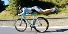 Watch: Road cyclist superman