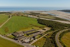 An aerial view of The Heartland World Heritage Hotel, at Haast Junction, on the West Coast
