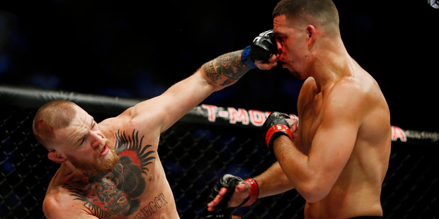 "Some have labelled Conor McGregor and Nate Diaz' UFC bout the ""fight of the century."" Photo / AP"