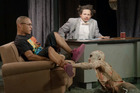 A zombie attacks T.I. during his interview with Eric Andre.