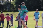 Pupils dressed in their house colours completed a range of events during the fun day.