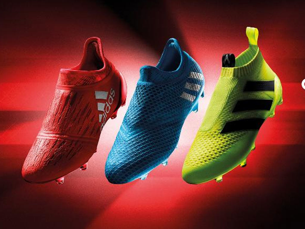 Adidas' Speed of Light pack. (L - Pure Chaos, C - Pure Messi, R - Pure control)