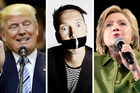 Could Trump and Clinton follow in Tape Face's footsteps and be an AGT hit? Photos / AP, Supplied