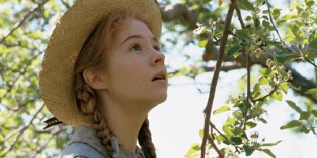 Megan Follows in scene from the television mini-series Anne of Green Gables.