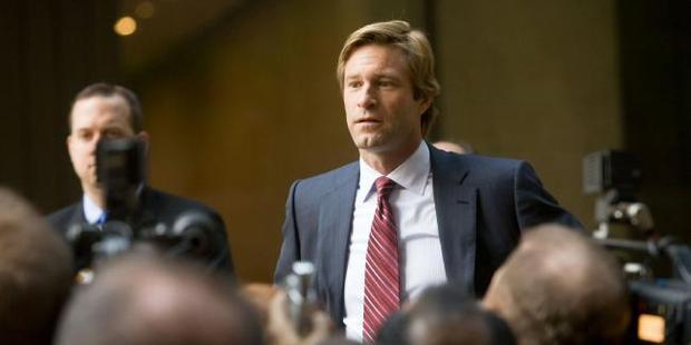 Aaron Eckhart as Harvey Dent in The Dark Knight.
