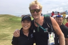 Lydia Ko was supported by Eric Murray on the course at Rio.
