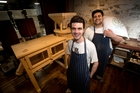 Head baker Dan Cruden, left, and senior backer Paul Leaming at Stone Mill at Amano Bakery. Photo / Dean Purcell
