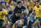 All Blacks centre Malakai Fekitoa in action against Australia. Photo / Brett Phibbs