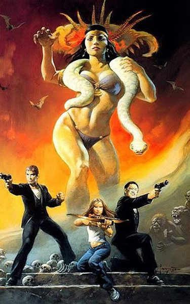 Frank Frazetta's From Dusk Till Dawn poster, created for the film but never used in its promotional campaign