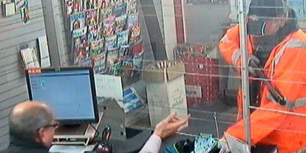 The robber demanded cash from the till and then ran off with an undisclosed quantity of cash. Photo / NZ Police