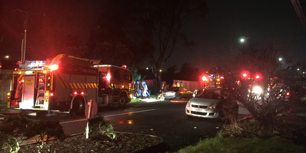 Loading Image from the fire in New Lynn. Photo / Susan Strongman