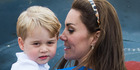 Kate revealed how chocolate and golden syrup goes everywhere when she tries to bake at home with three-year-old George. Photo / Getty